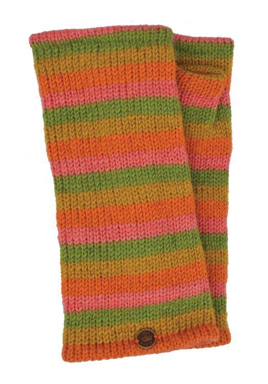 Fleece lined wristwarmer - stripe - Tutti Frutti