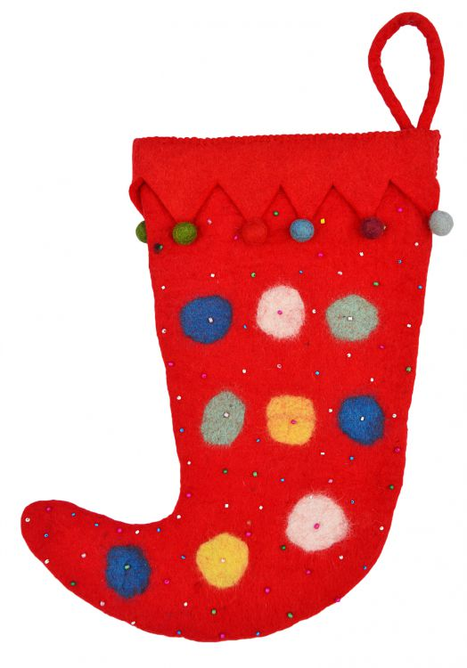 Hand made - felt - Christmas Stocking - Jester
