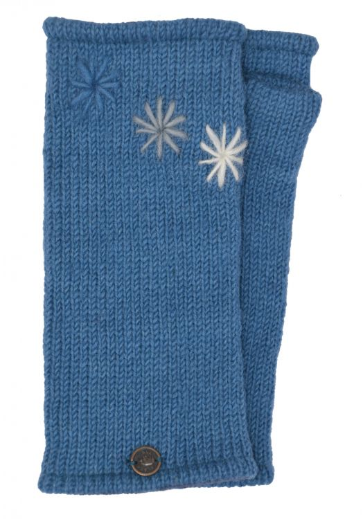 Fleece lined wristwarmer - Three Star - Blue