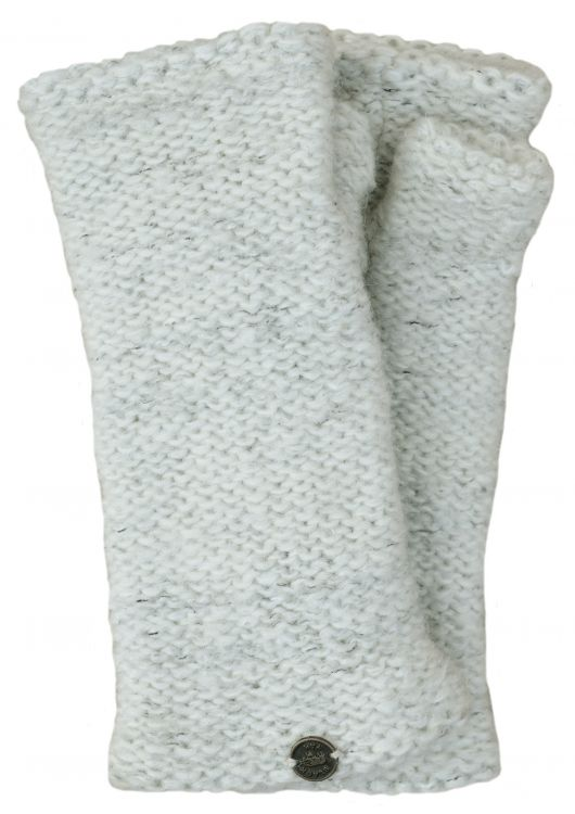 Fleece lined - Fine Wool Mix - wristwarmer  - white