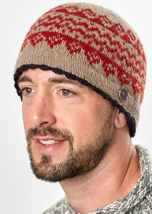 Pure new wool beanie - Garva - Camel