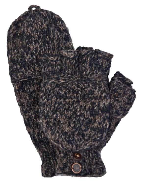 two tone mitt - java/black