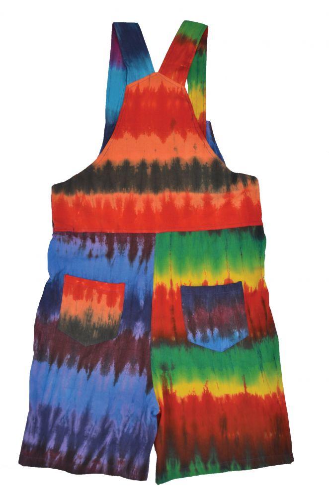6c45f886fb581 Tie dye dungarees - rainbowish | Black Yak