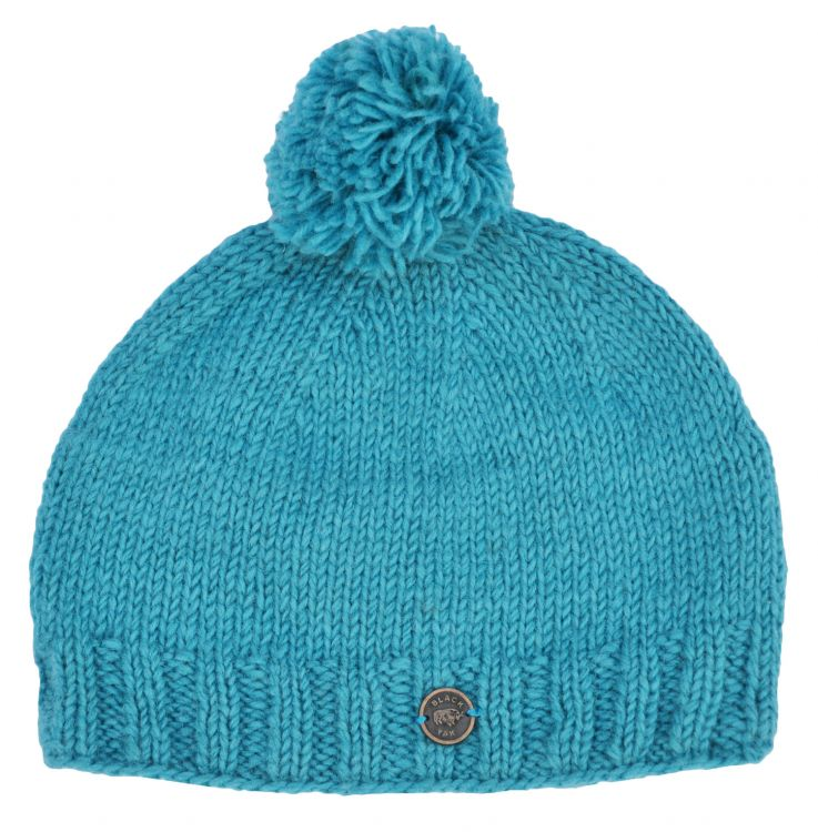 Hand knit - classic bobble - Turquoise