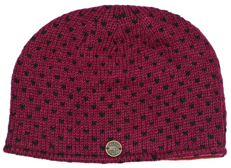 Easy beanie - pure wool - tick blackcurrant