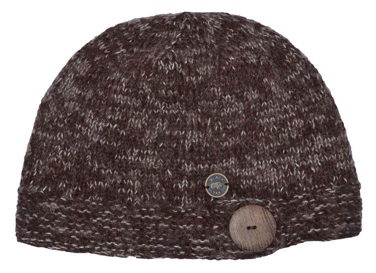 Big button cloche - pure wool - fine wool mix - chestnut