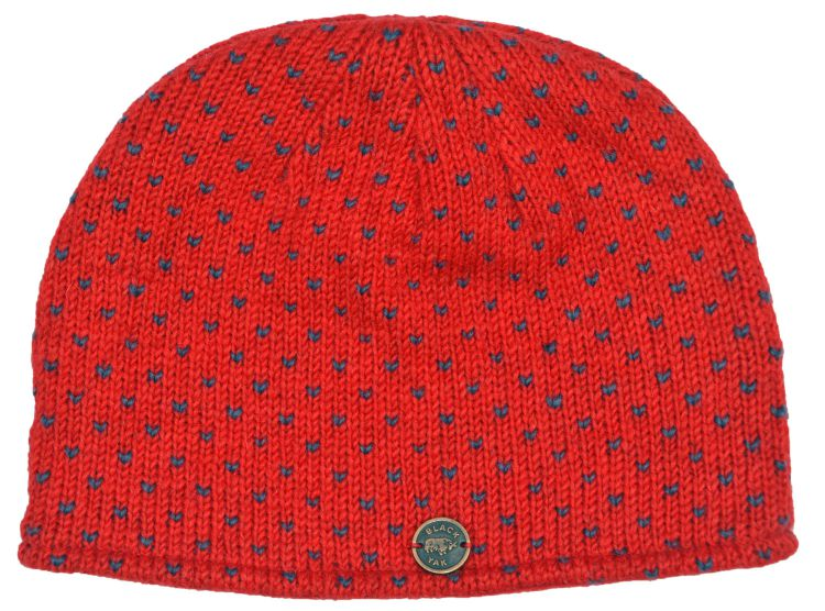 easy beanie - machine washable - tick Red