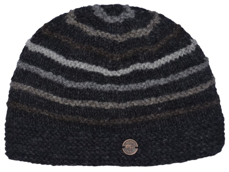 natural ridge beanie - charcoal