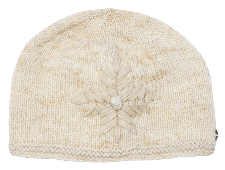 fine wool mix - embroidered beanie - Sand