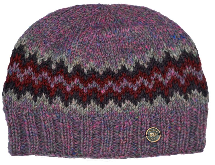 Half fleece lined - zig zag beanie - Heathers