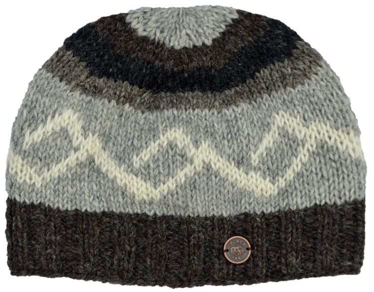 hand knit - helix beanie - brown
