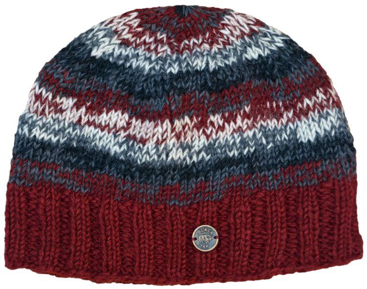 163322b7da6b5 Pure wool - half fleece lined - electric - beanie - Brick red ...