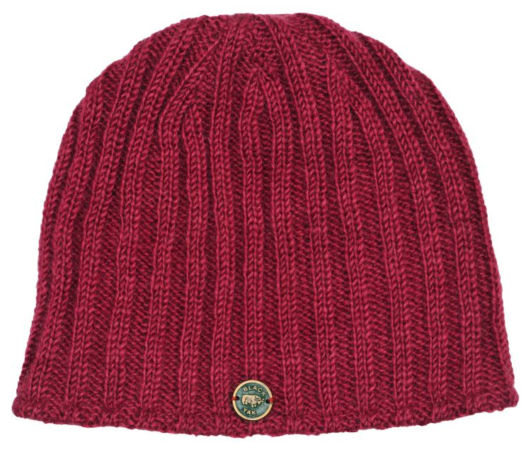 easy beanie -machine washable - rib berry