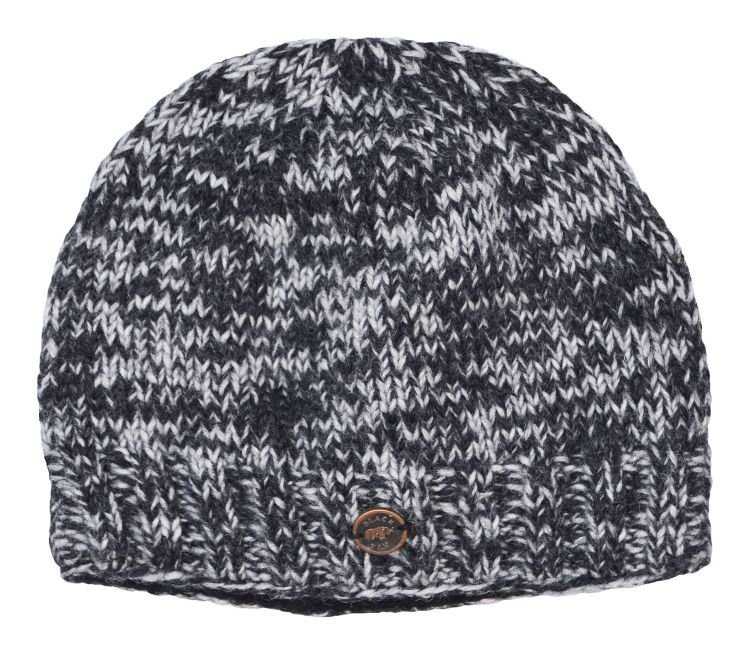 67be39c5779 Pure Wool - half fleece - lined beanie - Two tone grey