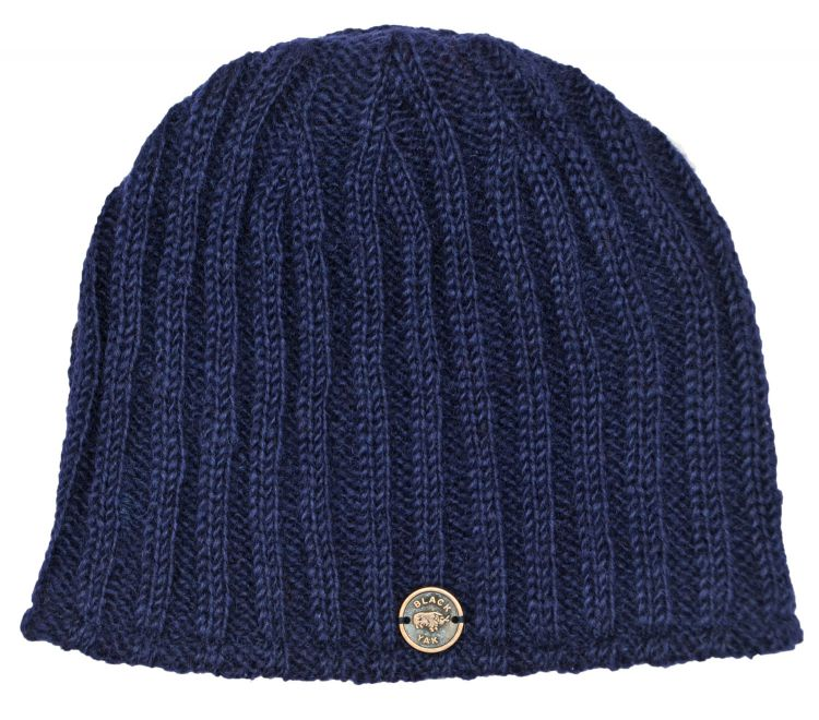 easy beanie -machine washable - rib blue