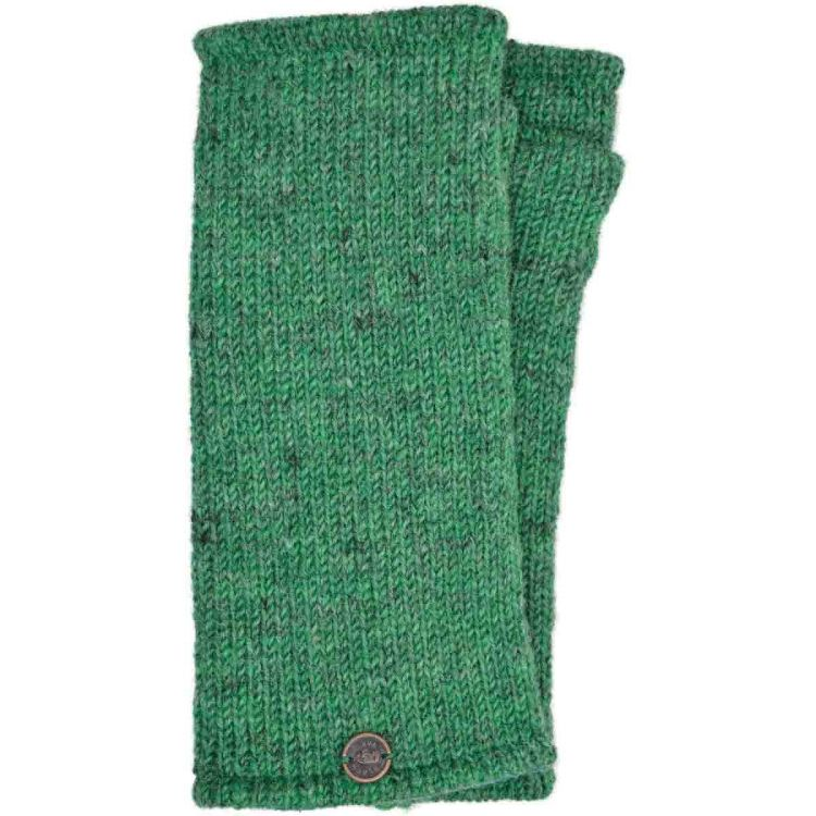 Pepper - pure wool plain wristwarmer - green/grey
