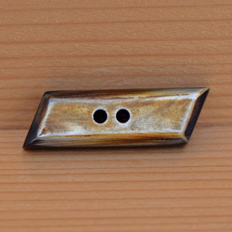 Hand worked - Small Bar -  pale surfaced button