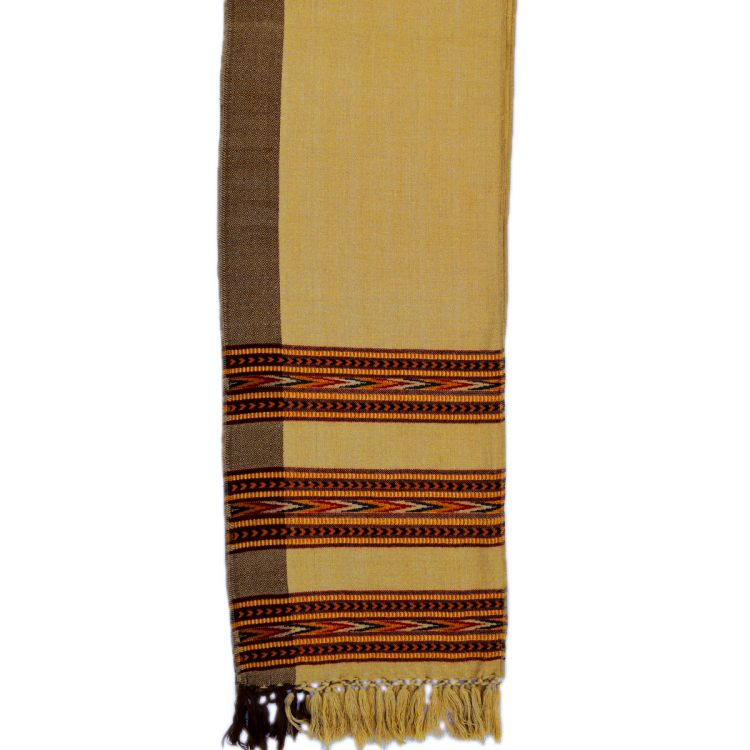 Narrow scarf - arrow - camel