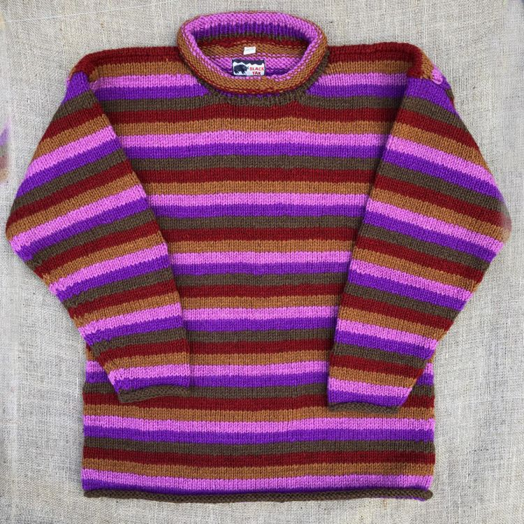 One off wonder - mauve stripes