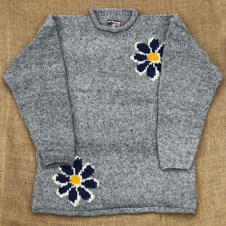 One off wonder - double flower - mid grey
