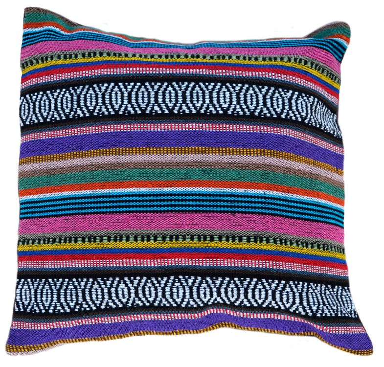 Cushion cover - Cotton Gheri Front - Cover Plum