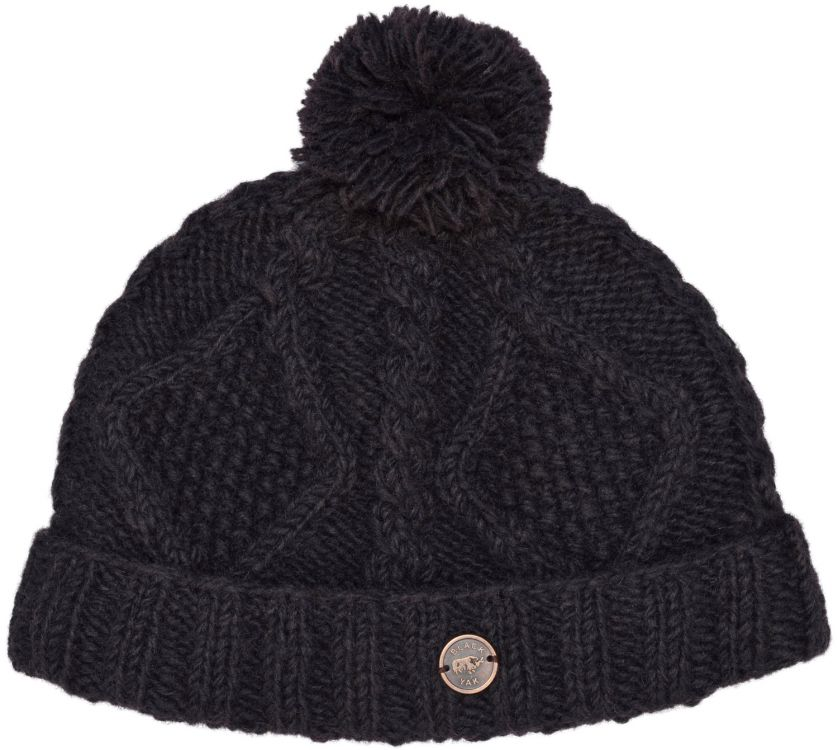 Celtic bobble hat - turn up - conker