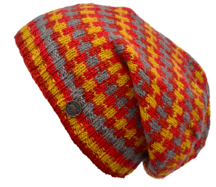 Pure wool - geometric slouch - Spice