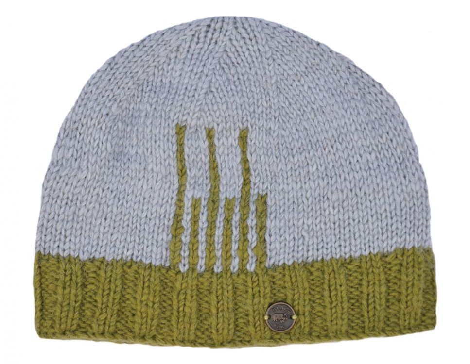 Deco Beanie - Green Grey